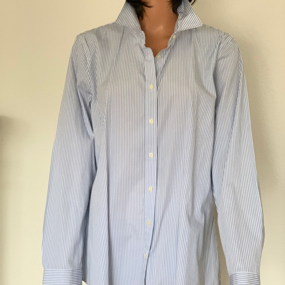 1f61cacc GAP Tops | Cotton Women Xl Button Down Shirt Stripes Chic | Poshmark